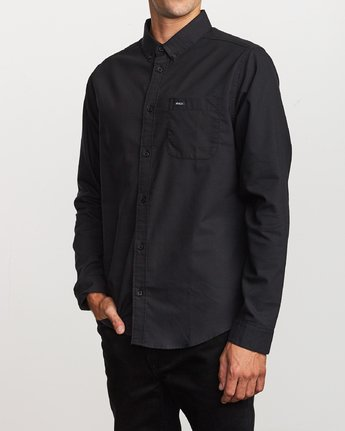 3 That'll Do Stretch Long Sleeve Shirt Black M551VRTD RVCA