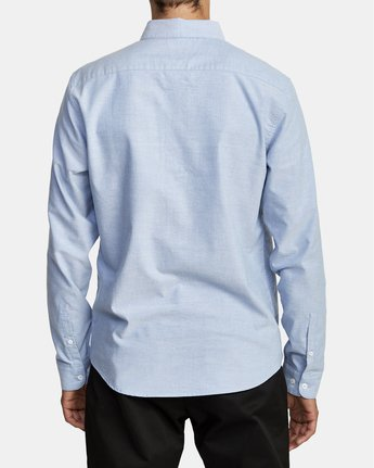 5 THAT'LL DO STRETCH LONG SLEEVE SHIRT Blue M551VRTD RVCA