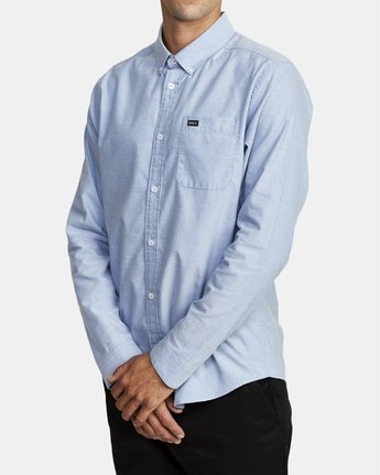 6 THAT'LL DO STRETCH LONG SLEEVE SHIRT Blue M551VRTD RVCA