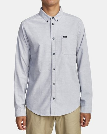 0 That'll Do Stretch Long Sleeve Shirt White M551VRTD RVCA