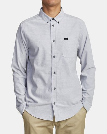 2 That'll Do Stretch Long Sleeve Shirt White M551VRTD RVCA