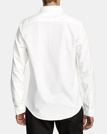 4 That'll Do Stretch Long Sleeve Shirt White M551VRTD RVCA