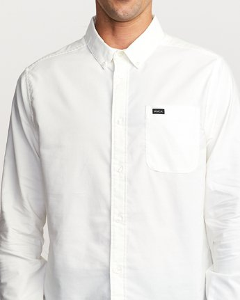 5 That'll Do Stretch Long Sleeve Shirt White M551VRTD RVCA