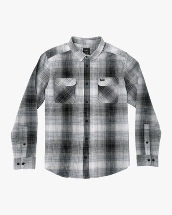 0 Muir Plaid Long Sleeve Flannel  Black M552TRMF RVCA