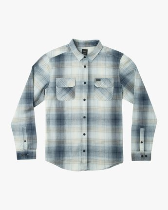 5 Muir Plaid Long Sleeve Flannel Blue M552TRMF RVCA