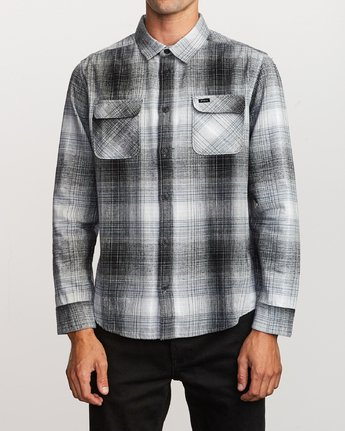 1 Muir Plaid Long Sleeve Flannel  Black M552TRMF RVCA