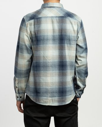 2 Muir Plaid Long Sleeve Flannel Blue M552TRMF RVCA