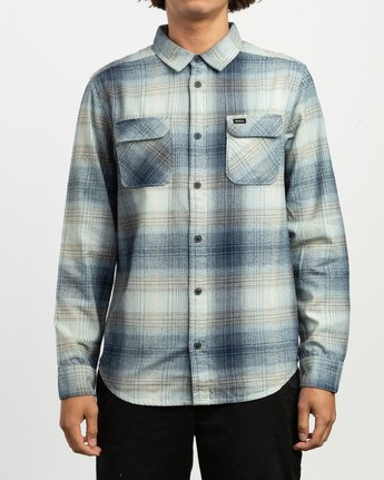 1 Muir Plaid Long Sleeve Flannel Blue M552TRMF RVCA