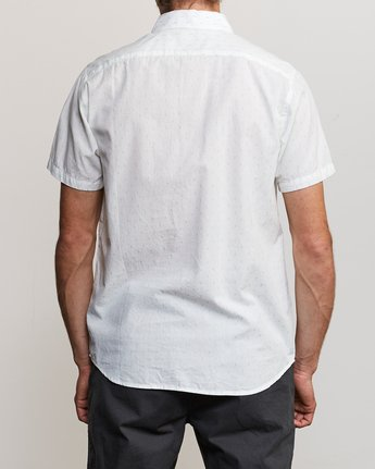 3 That'll Do Hi Grade II Button-Up Shirt White M552URTH RVCA