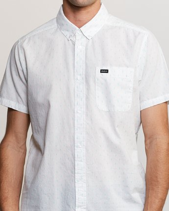 4 That'll Do Hi Grade II Button-Up Shirt White M552URTH RVCA