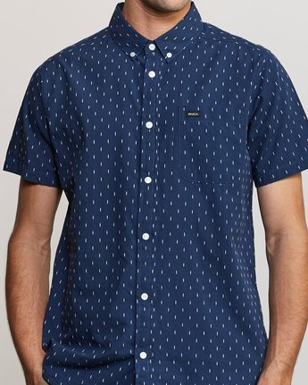4 That'll Do Hi Grade II Button-Up Shirt Blue M552URTH RVCA
