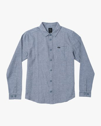 0 Black Sand Flannel Blue M552VRBS RVCA