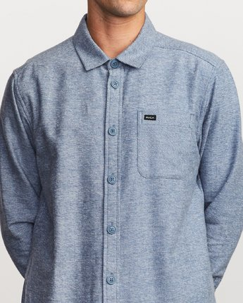 4 Black Sand Flannel Blue M552VRBS RVCA
