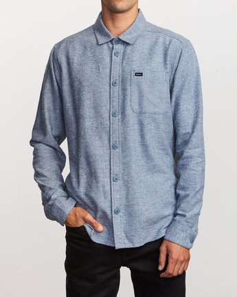 1 Black Sand Flannel Blue M552VRBS RVCA