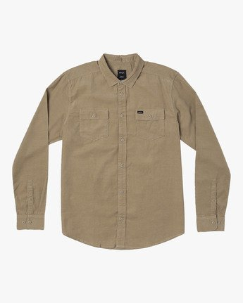 0 Freeman Corduroy Long Sleeve Shirt Yellow M552VRFC RVCA