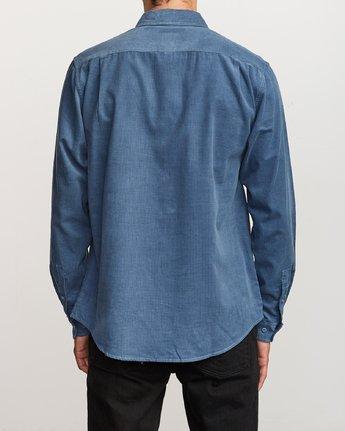 3 Freeman Corduroy Long Sleeve Shirt Blue M552VRFC RVCA