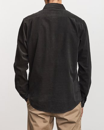 3 Freeman Corduroy Long Sleeve Shirt Black M552VRFC RVCA
