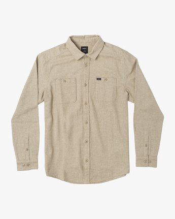 4 HARVEST LONG SLEEVE FLANNEL Beige M5533RHF RVCA