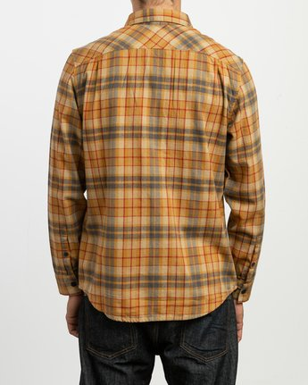 1 Watt Plaid Long Sleeve Flannel Beige M553TRWF RVCA