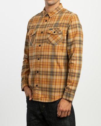 2 Watt Plaid Long Sleeve Flannel Beige M553TRWF RVCA