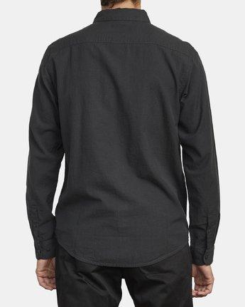 2 Endless Seersucker Long Sleeve Shirt Grey M553WREN RVCA