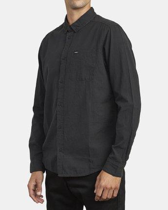 3 Endless Seersucker Long Sleeve Shirt Grey M553WREN RVCA