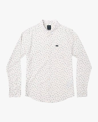 4 Prelude Floral Long Sleeve Shirt White M554VRPF RVCA
