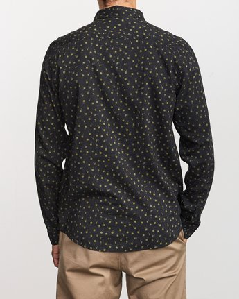 1 Prelude Floral Long Sleeve Shirt Black M554VRPF RVCA