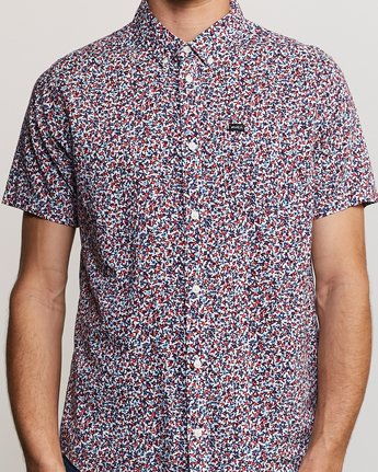 4 Revivalist Floral Button-Up Shirt White M556URRF RVCA