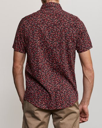 3 Revivalist Floral Button-Up Shirt Red M556URRF RVCA