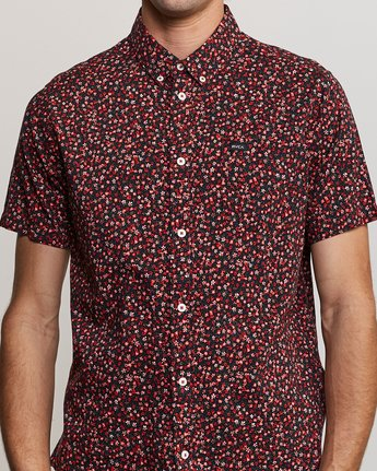 4 Revivalist Floral Button-Up Shirt Red M556URRF RVCA