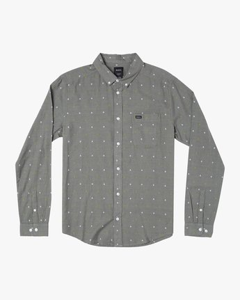 0 THATLL DO DOBBY LONG SLEEVE SHIRT Purple M556WRDE RVCA