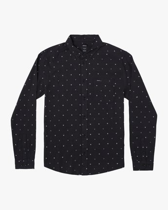 0 THATLL DO DOBBY LONG SLEEVE SHIRT Black M556WRDE RVCA