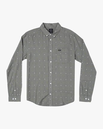 1 THATLL DO DOBBY LONG SLEEVE SHIRT Purple M556WRDE RVCA
