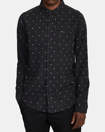4 THATLL DO DOBBY LONG SLEEVE SHIRT Black M556WRDE RVCA