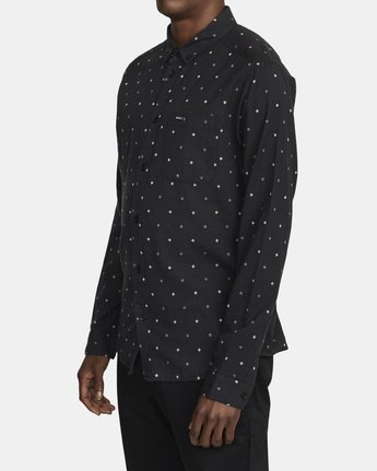 2 THATLL DO DOBBY LONG SLEEVE SHIRT Black M556WRDE RVCA