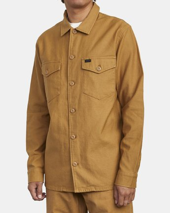 2 FUBAR SHIRT JACKET Brown M5573RFS RVCA