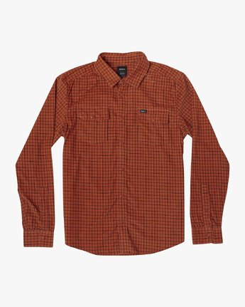 6 FREEMAN CORD LONG SLEEVE SHIRT Red M5583RFC RVCA
