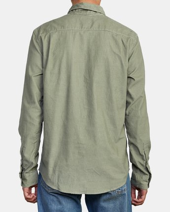 2 FREEMAN CORD LONG SLEEVE SHIRT Green M5583RFC RVCA