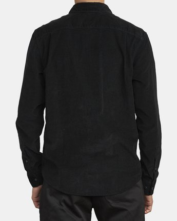 1 FREEMAN CORD LONG SLEEVE SHIRT Black M5583RFC RVCA