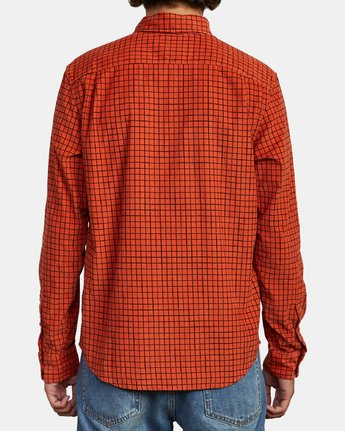 2 FREEMAN CORD LONG SLEEVE SHIRT Red M5583RFC RVCA