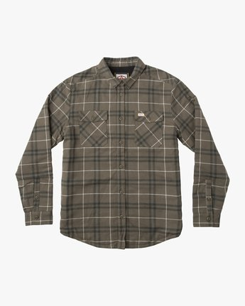 0 Andrew Reynolds Plaid Flannel Green M558QRRP RVCA