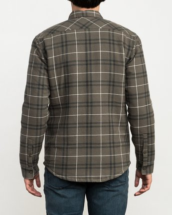 4 Andrew Reynolds Plaid Flannel Green M558QRRP RVCA