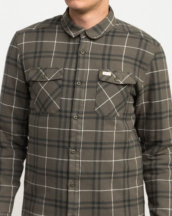 5 Andrew Reynolds Plaid Flannel Green M558QRRP RVCA