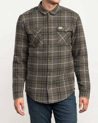 1 Andrew Reynolds Plaid Flannel Green M558QRRP RVCA