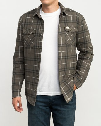 2 Andrew Reynolds Plaid Flannel Green M558QRRP RVCA