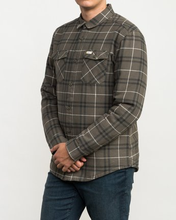 3 Andrew Reynolds Plaid Flannel Green M558QRRP RVCA