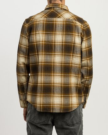 3 High Plains Plaid Flannel Brown M558SRHP RVCA