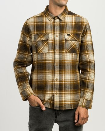 1 High Plains Plaid Flannel Brown M558SRHP RVCA
