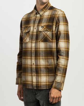 2 High Plains Plaid Flannel Brown M558SRHP RVCA